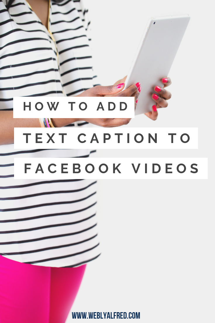 how to add Facebook caption