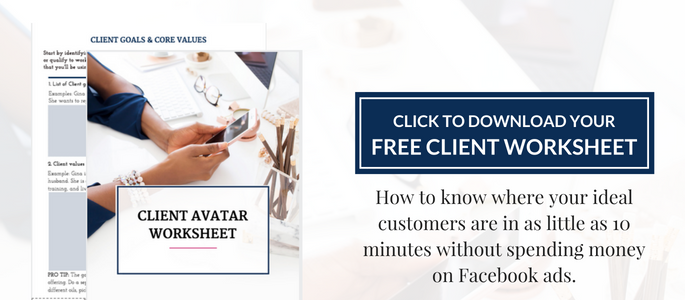 client avatar worksheet
